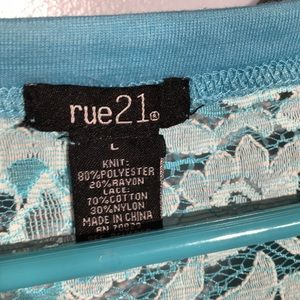 Rue21 Tops - Blue shirt with lace back
